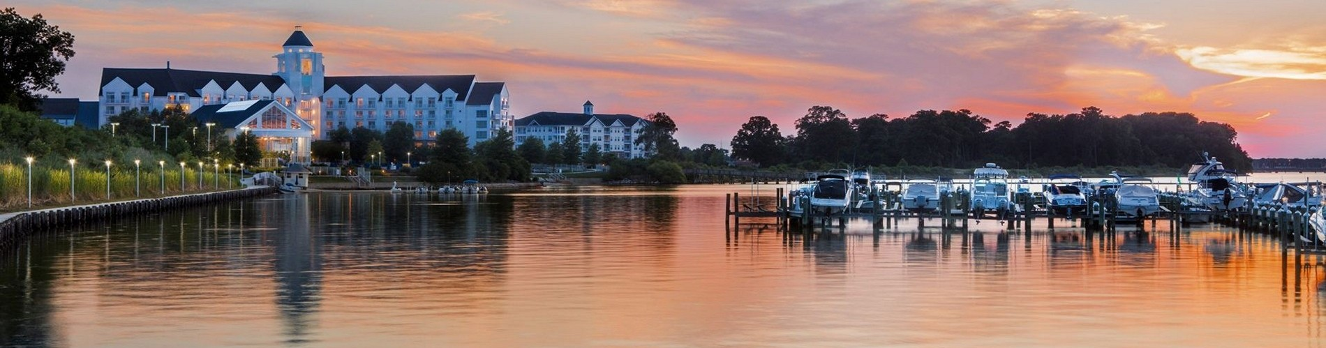 Hyatt-Regency-Chesapeake-Bay-Golf-Resort-Spa-and-Marina-P210-Resort-at-Sunset.adapt_.16x9.1920.1080